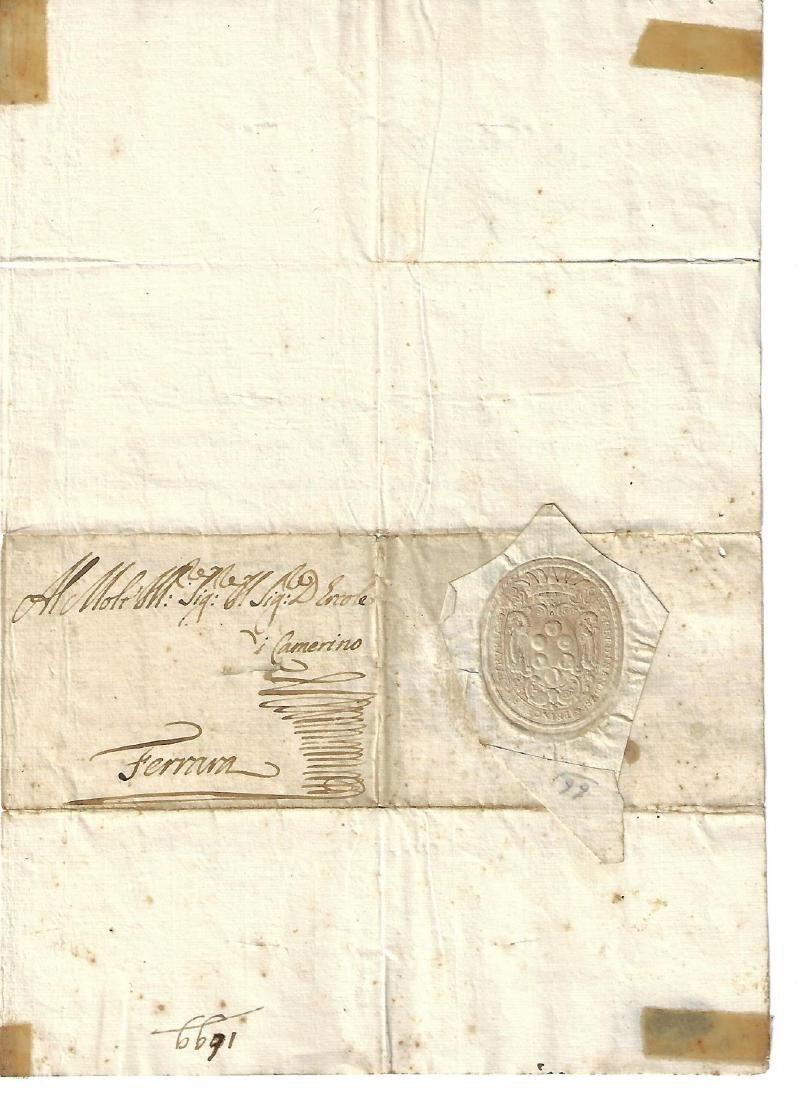 1699 Letter Ferdinand di Medici Address Panel w/ Seal - 2
