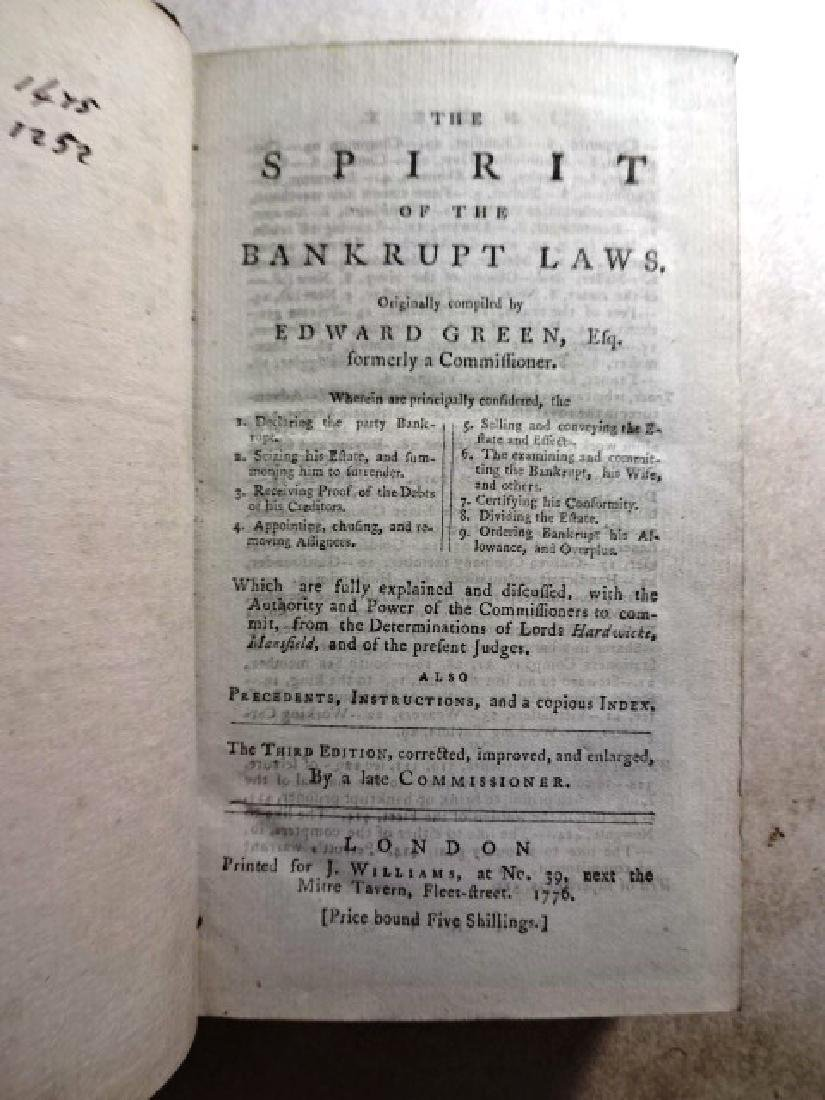 1776 Leather Bound The Spirit of the Bankrupt Laws