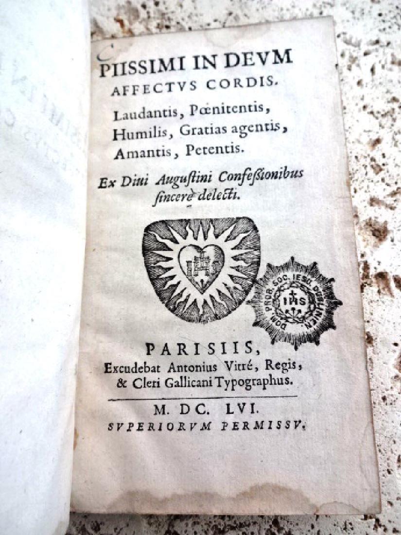 1656 FINE BINDING Leather Piissimi Deum Affectus Cordis - 2