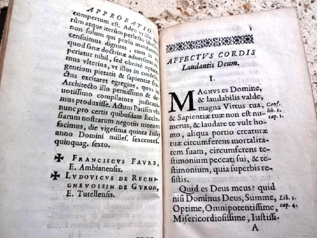 1656 FINE BINDING Leather Piissimi Deum Affectus Cordis - 3