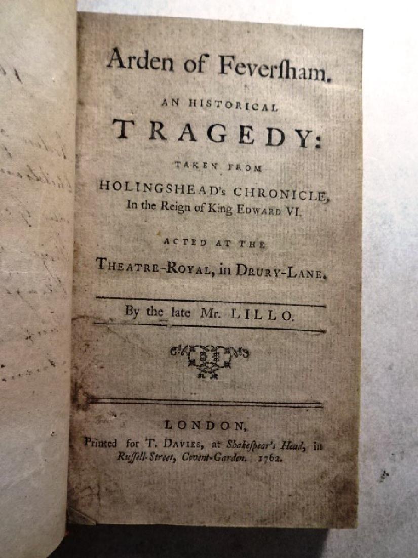 18th C Volume of English Plays Arden of Faversham