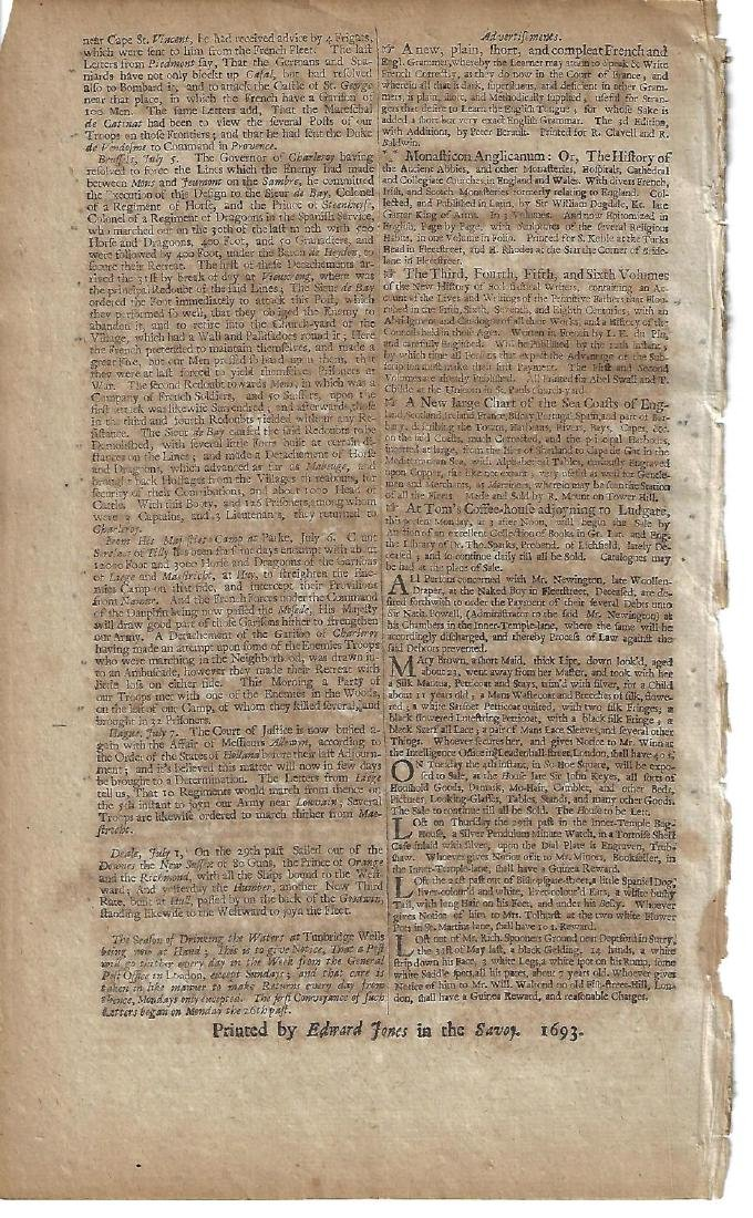 1693 London Gazette Spanish Armada - 2