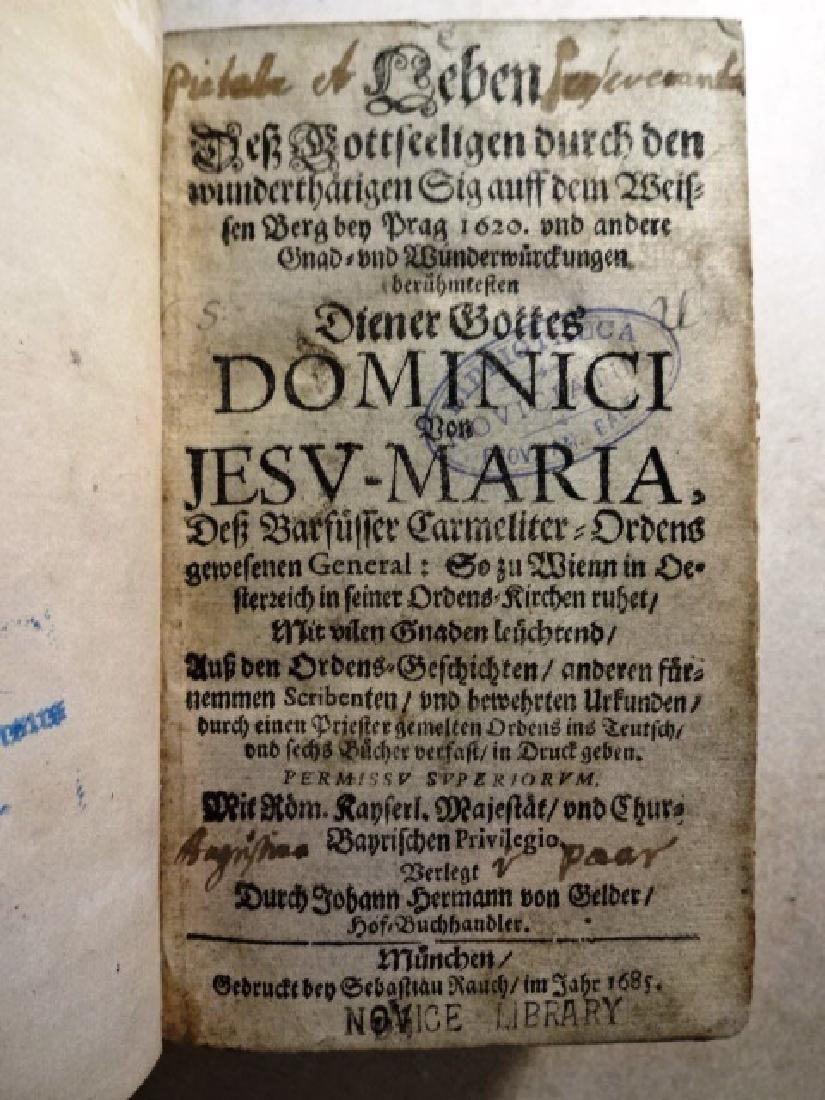 1685 Leben Des Gottseelingen Dominici von Jesu Maria - 2