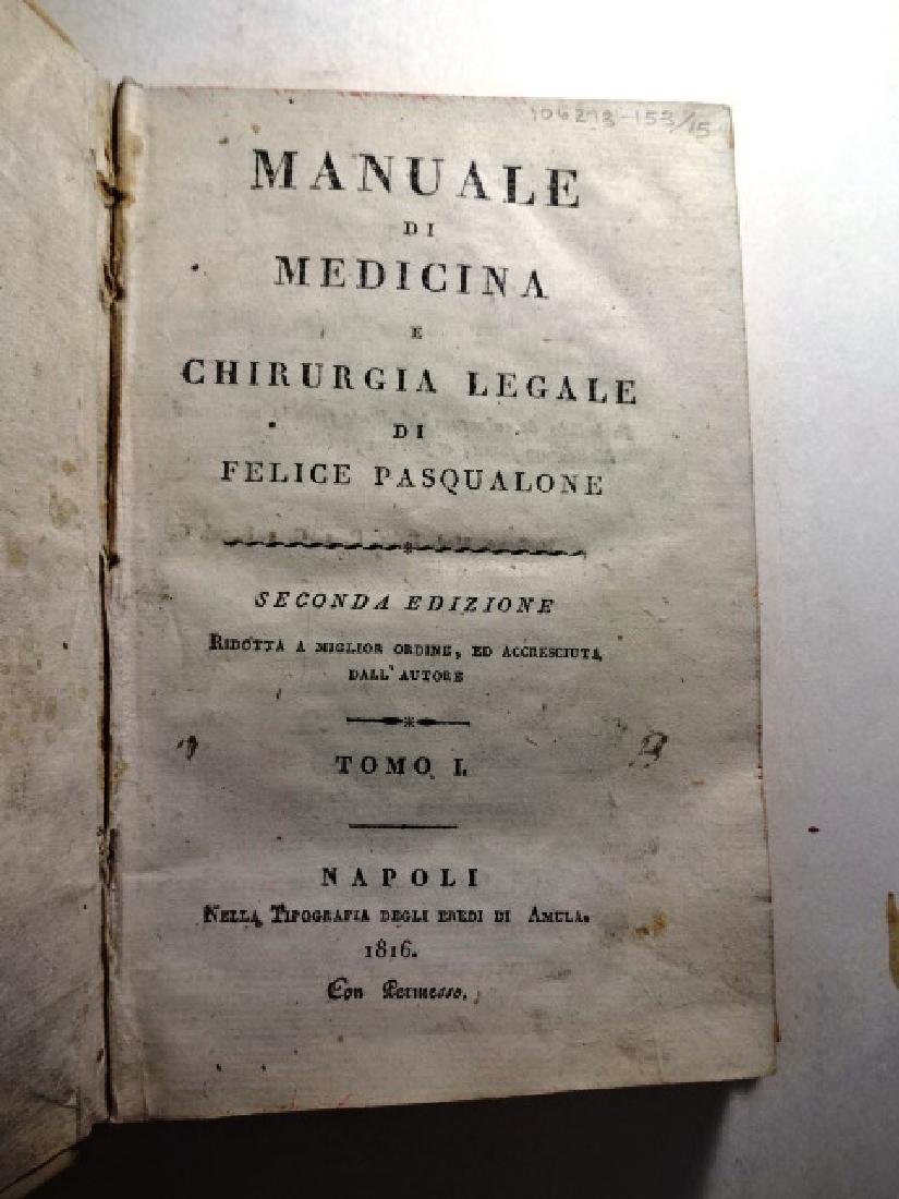 1816 Vellum Manuale Di Medicina E Chirurgia Legale - 2