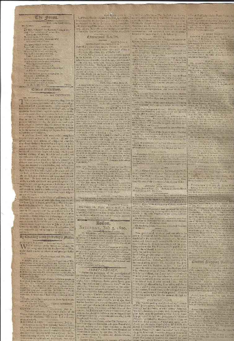 July 5 1800 Federalist Newspaper Anti-Jefferson Ads - 3