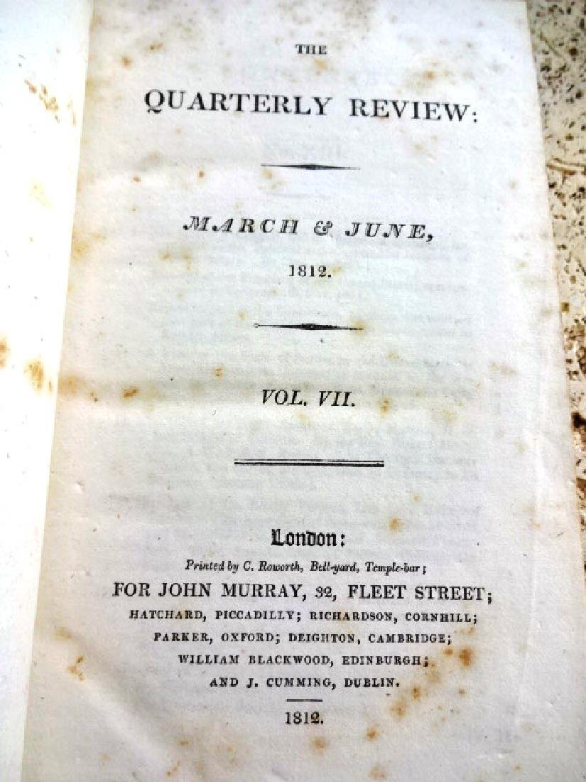 1812 Volume Quarterly Review War of 1812 Iceland - 2