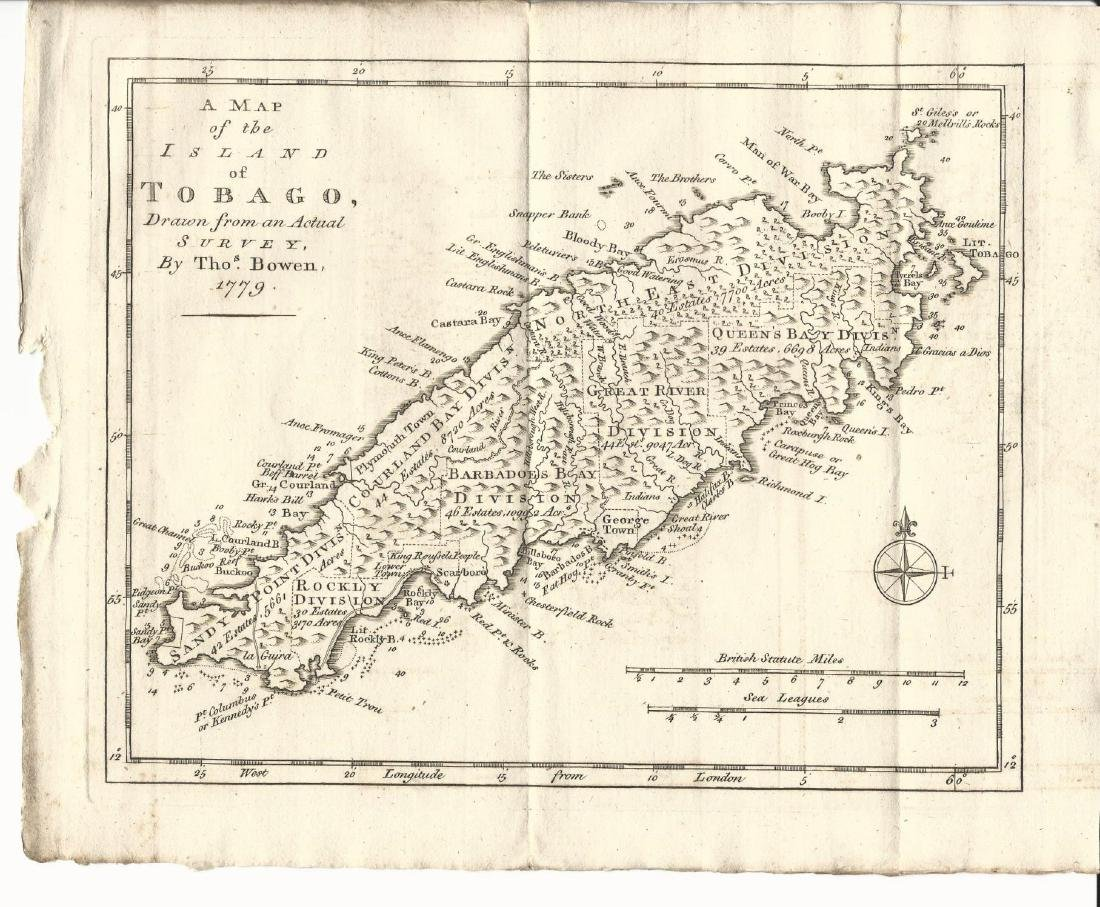 1779 Map of Island of Tobago