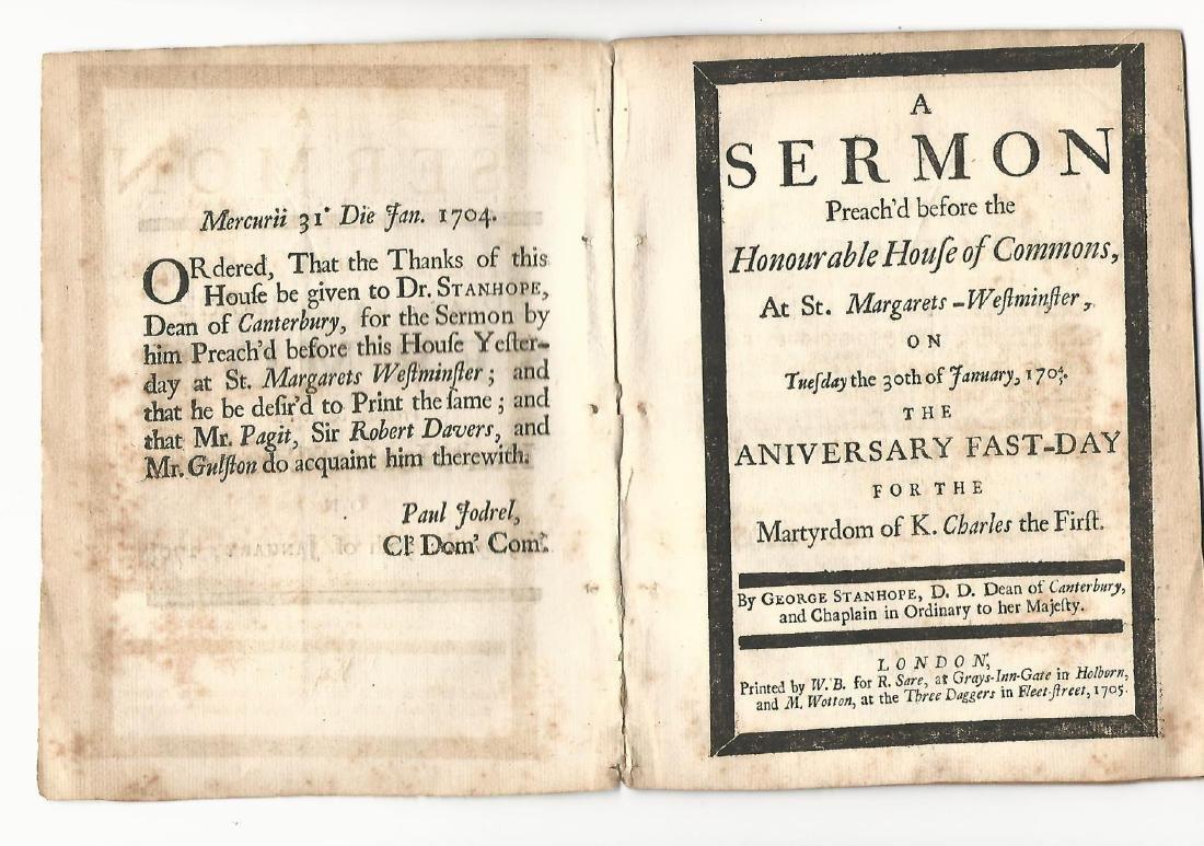 1705 English Sermon Martyrdom of King Charles I