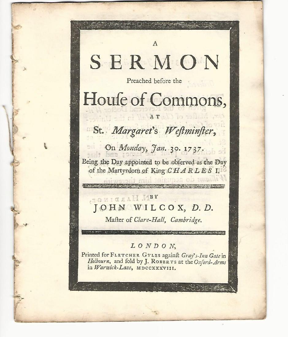 1738 English Sermon Martyrdom of Charles I