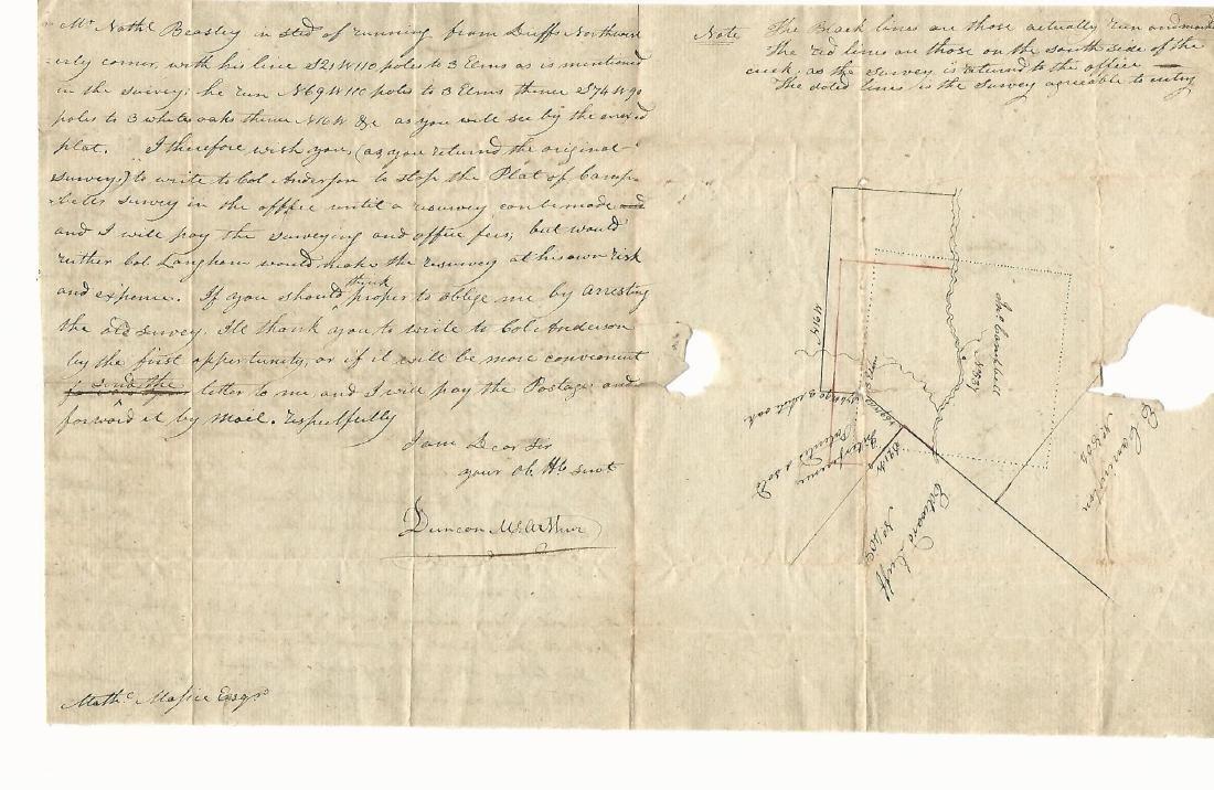 1804 ALS Territorial Governor Ohio w/ Survey