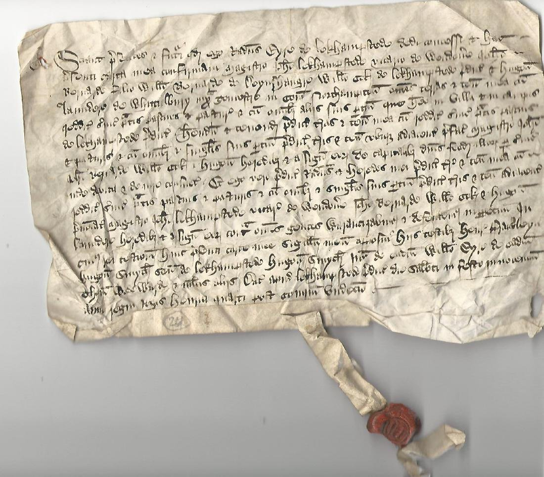 1410 English Vellum Deed Reign Henry IV w/ Seal