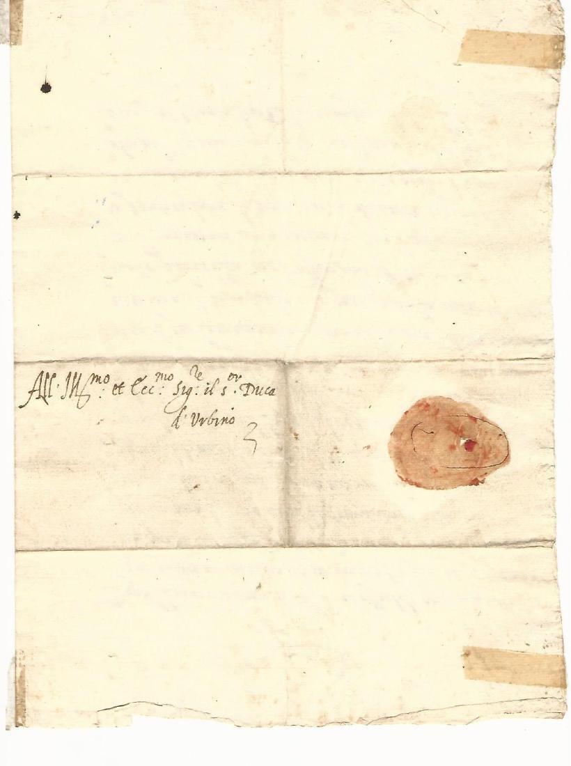 1572 Letter Signed Francesco Di Medici - 2