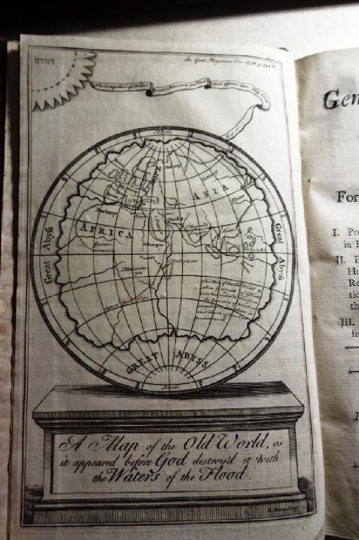 1736 Volume Gentleman's Magazine Leather/ Frontis Globe