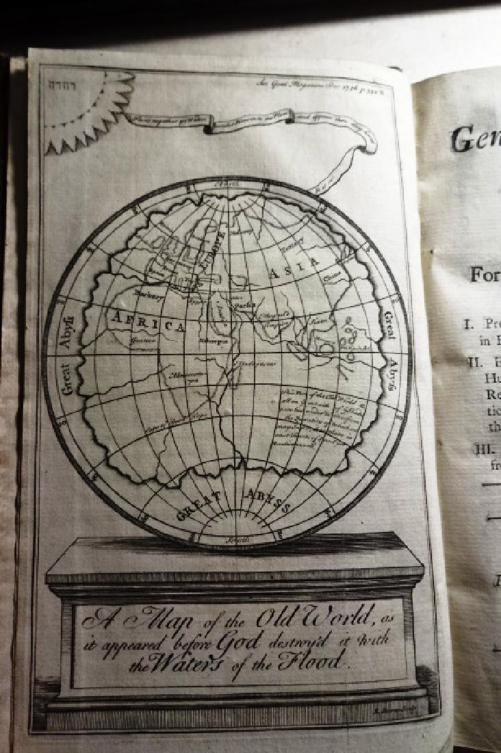 1736 Volume Gentleman's Magazine Leather/ Frontis Globe