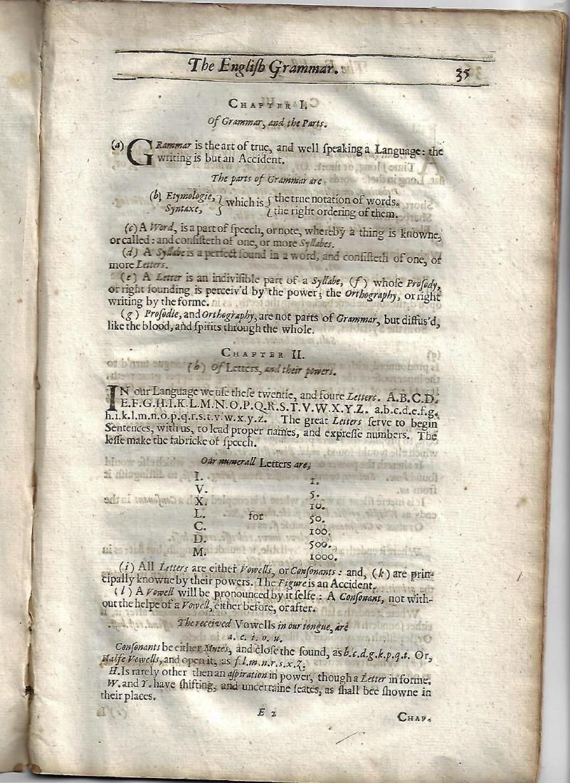 1640 English Grammar Made by Ben Jonson Benefit all - 2