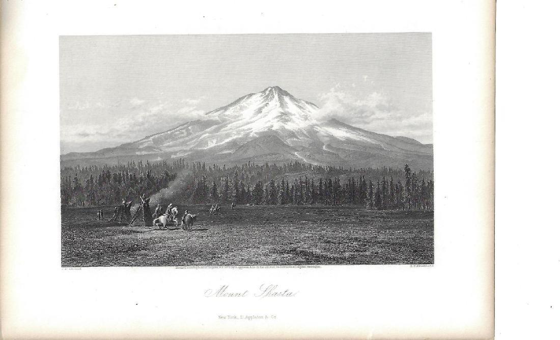 1873 Engraving of Mount Shasta