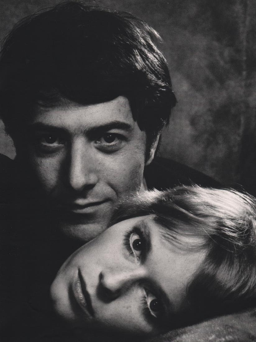 PHILIPPE HALSMAN - Dustin Hoffman & Mia Farrow