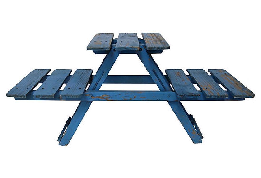 Blue Folding Stand