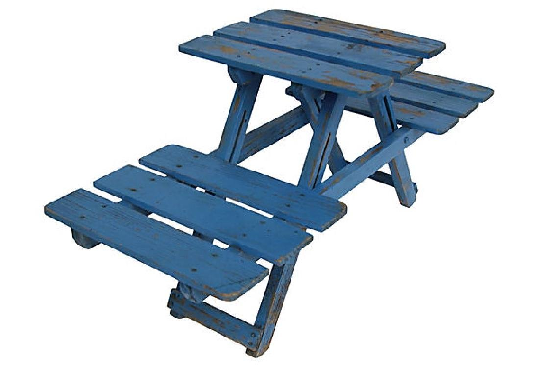 Blue Folding Stand - 4