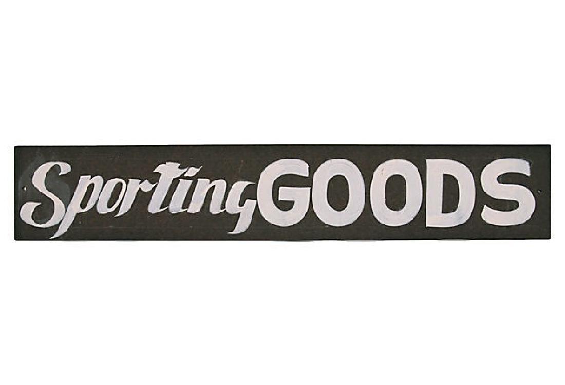 Vintage Sporting Goods Sign