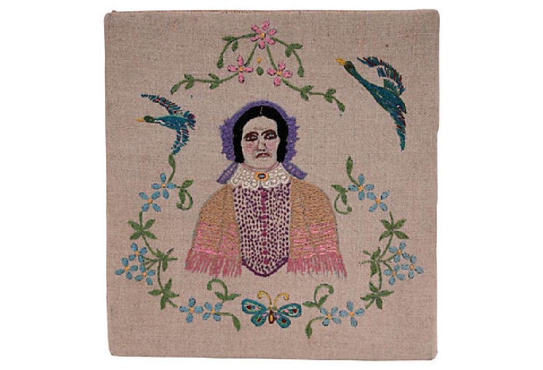 Vintage Woman Portrait Embroidery