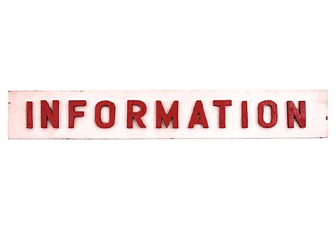 Vintage Information Sign