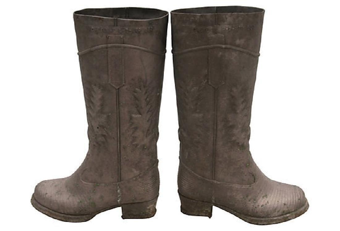 Vintage Zinc Boot Molds