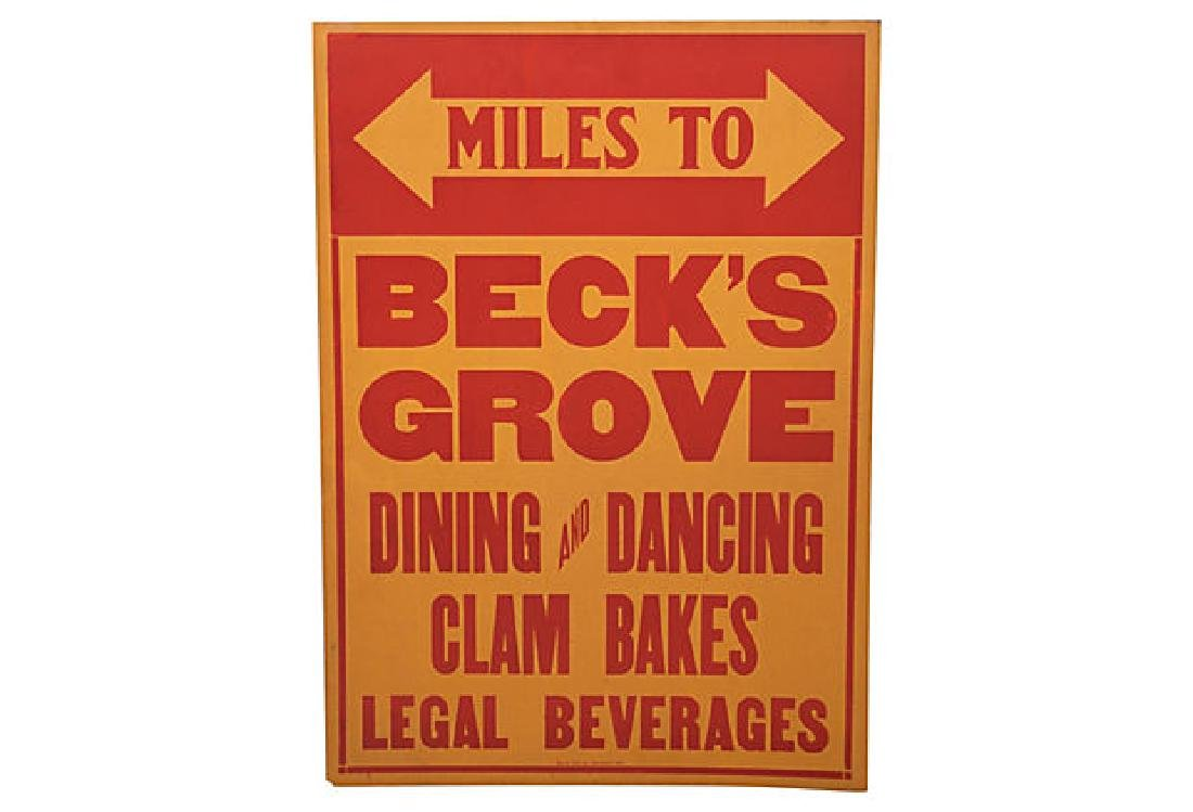 Beck's Grove Poster