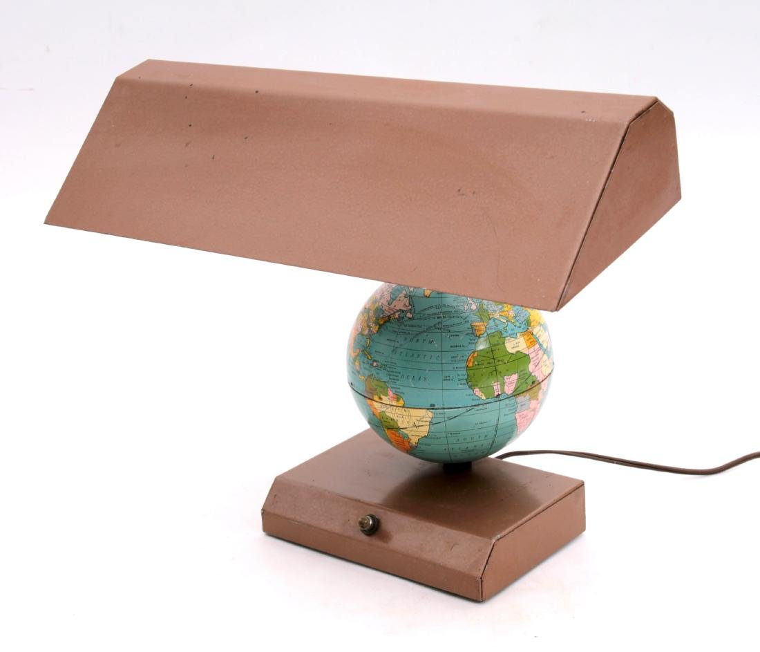 Vintage Metal Globe Desk Lamp