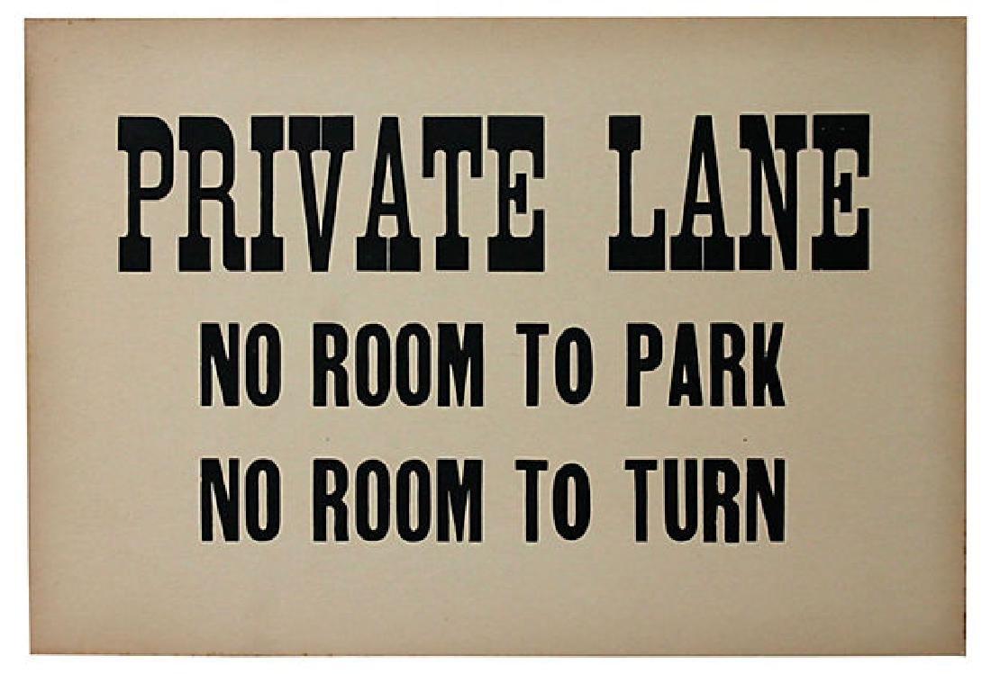 Private Lane Sign