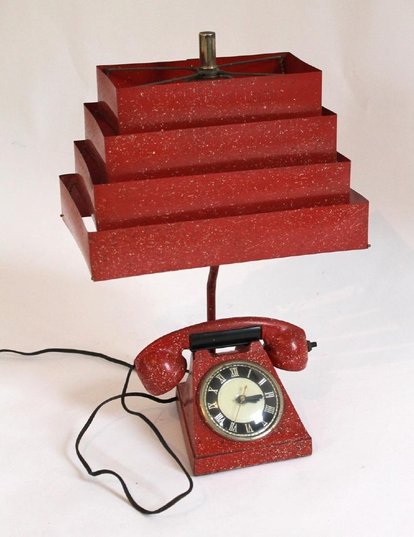Telephone Lamp/Clock/Lighter