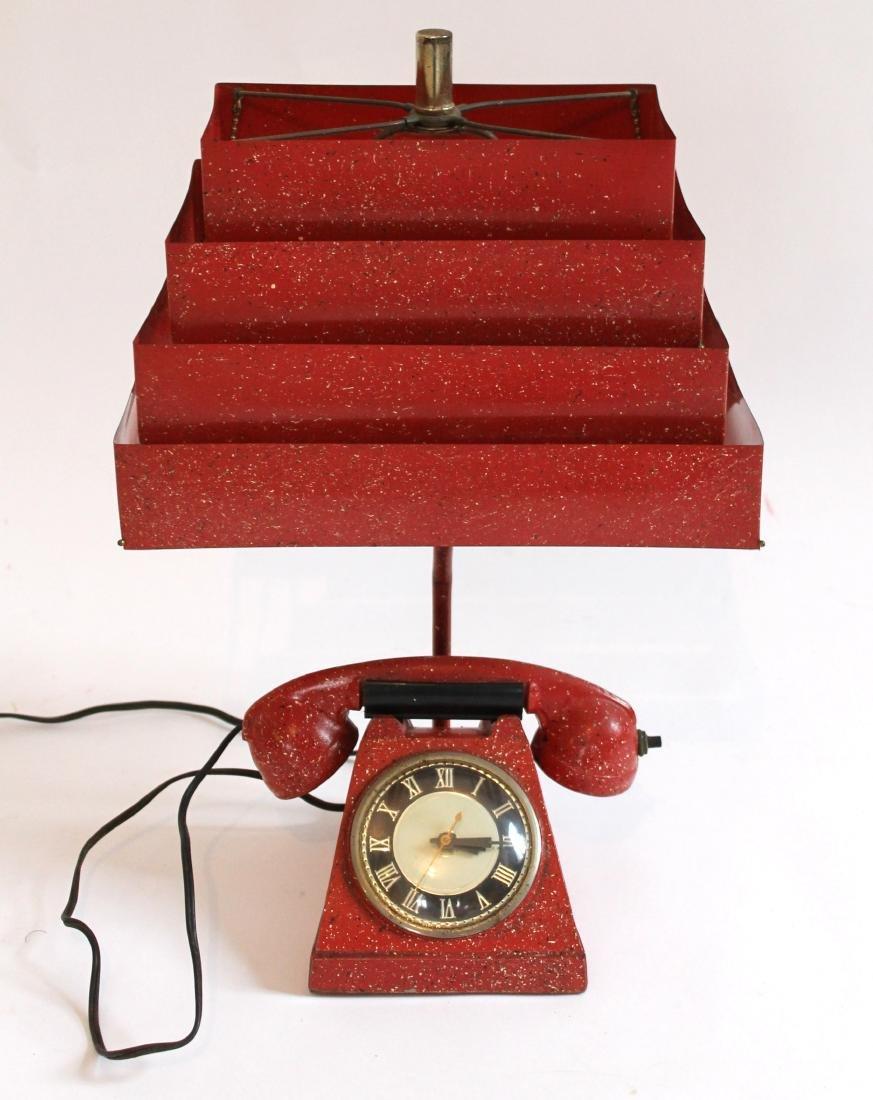 Telephone Lamp/Clock/Lighter - 2