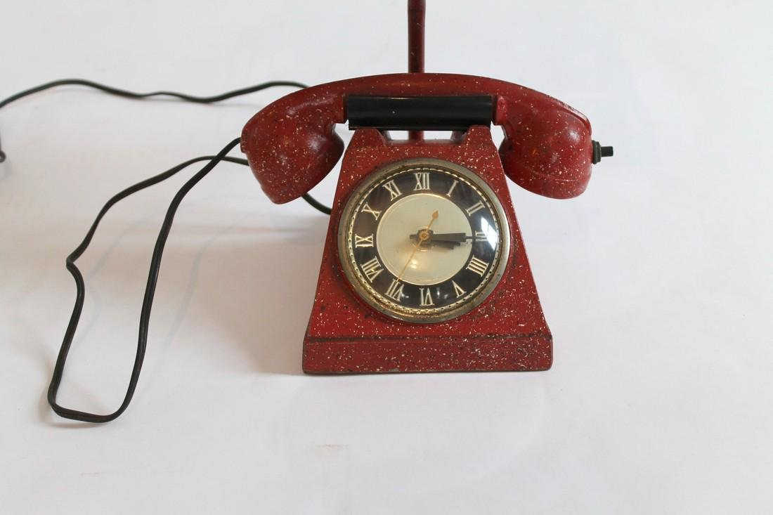 Telephone Lamp/Clock/Lighter - 5