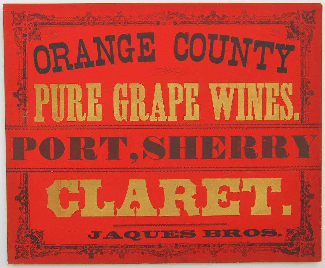 Jacques Bros Wine Sign