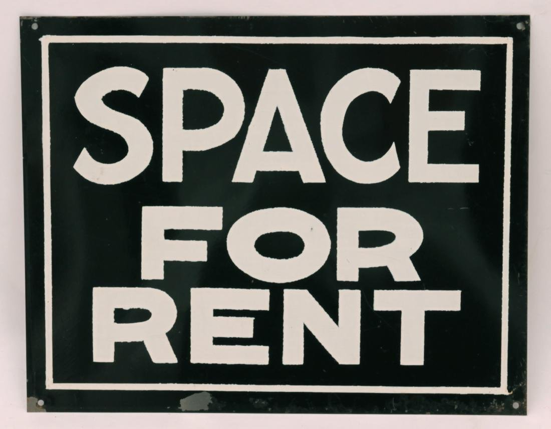 Vintage Space for Rent Sign