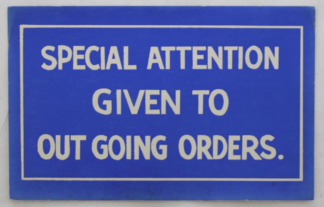 Special Attention Sign
