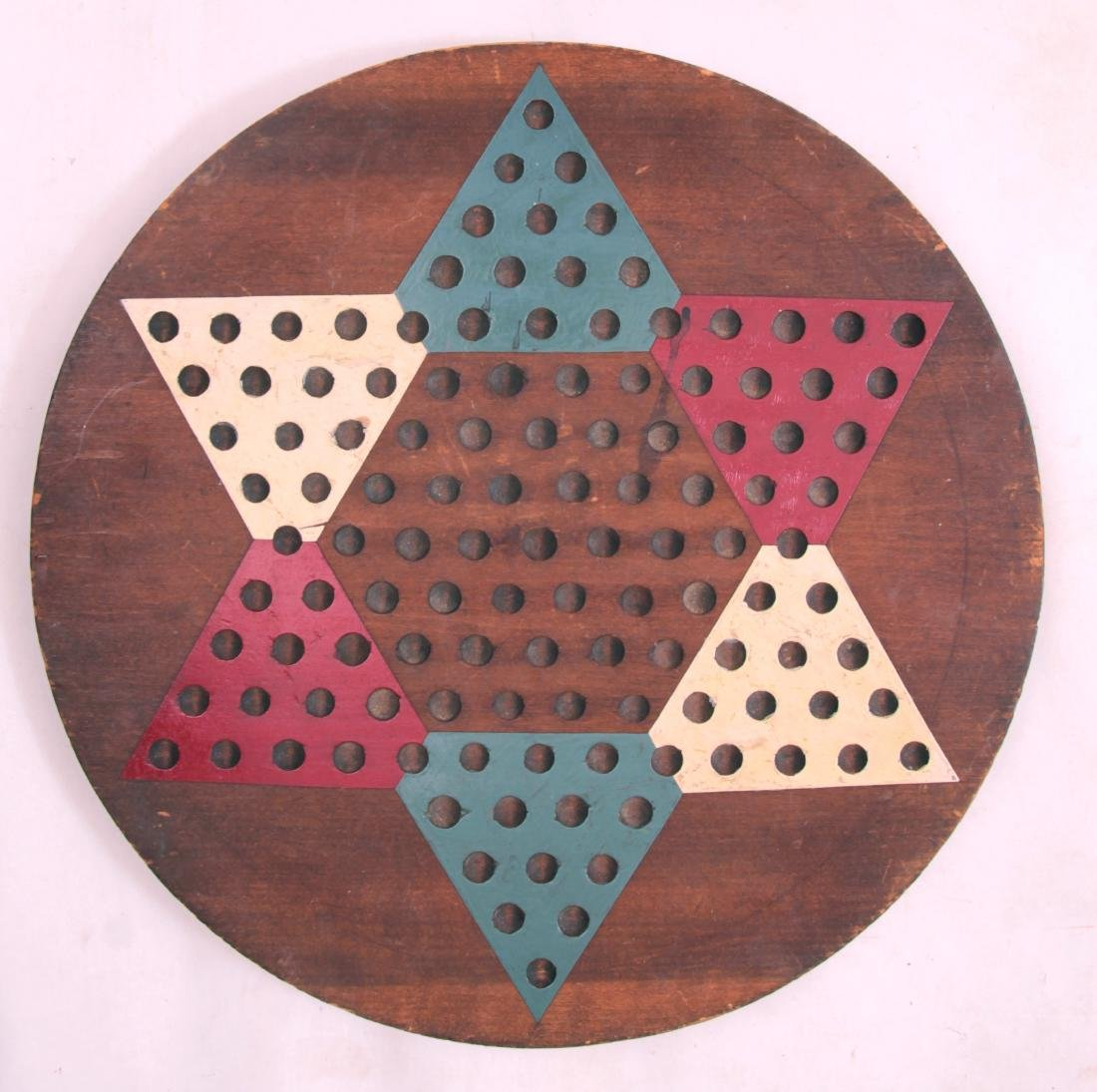 Hand Made Round Chinese Checkers Gameboard