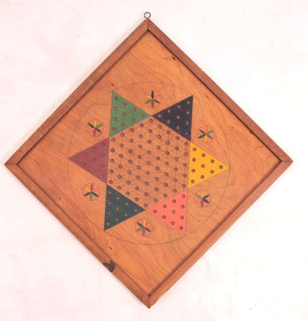 Hand Made Chinese Checkers Gameboard