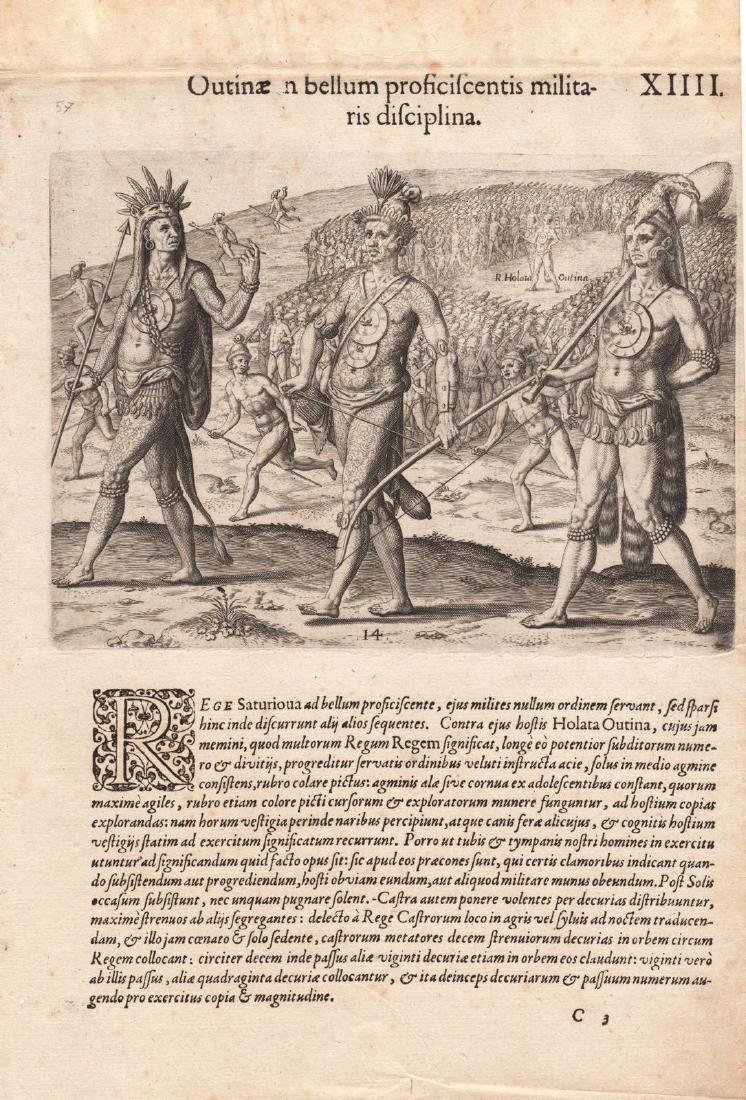 de Bry: Florida Indian Chief Marches to War, 1591