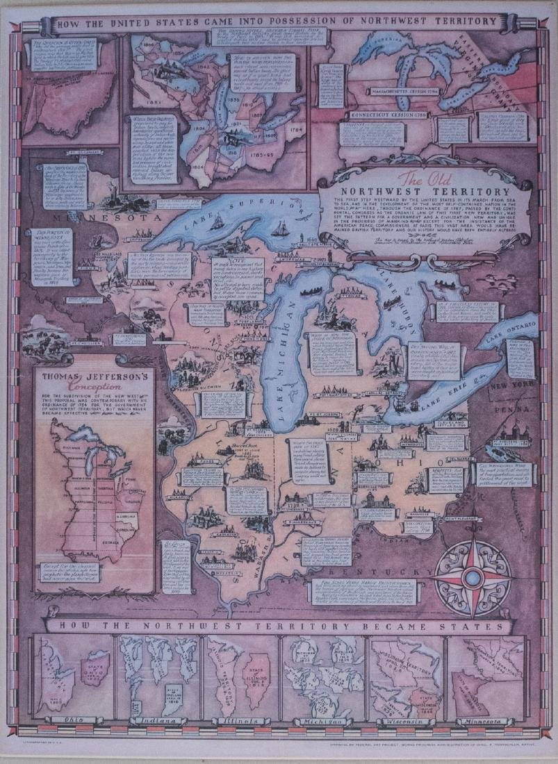 Vitnage Rentschler Pictorial Map of Northwest Territory