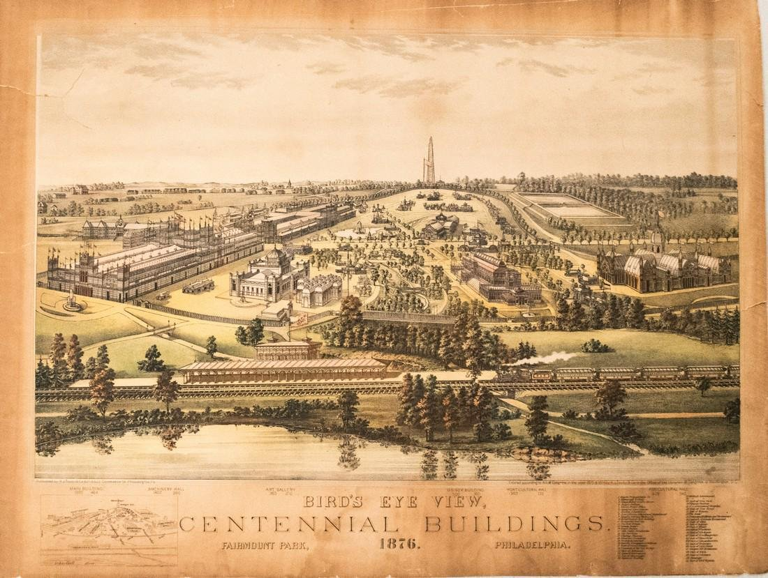 Toudy: View of Centennial Exposition Philadelphia, 1876