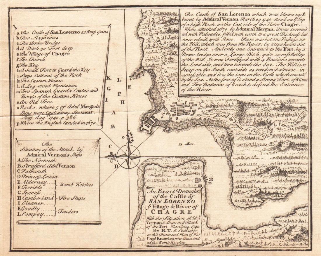 Gentlemen's Magazine: Map of Chagres, Panama, 1740