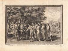 Cochin: Meeting of Cortez and Malinche in Tabasco, 1754