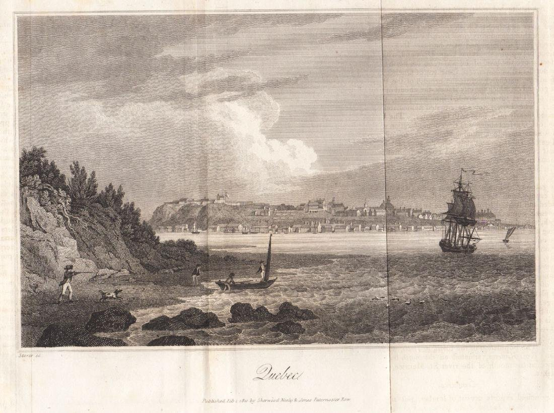 Carey & Lea: Antique View of Quebec City, 1823