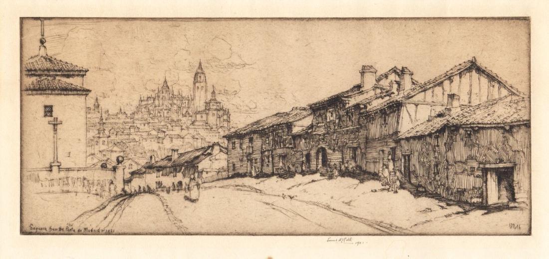 Roth: View of Segovia, Spain, 1921