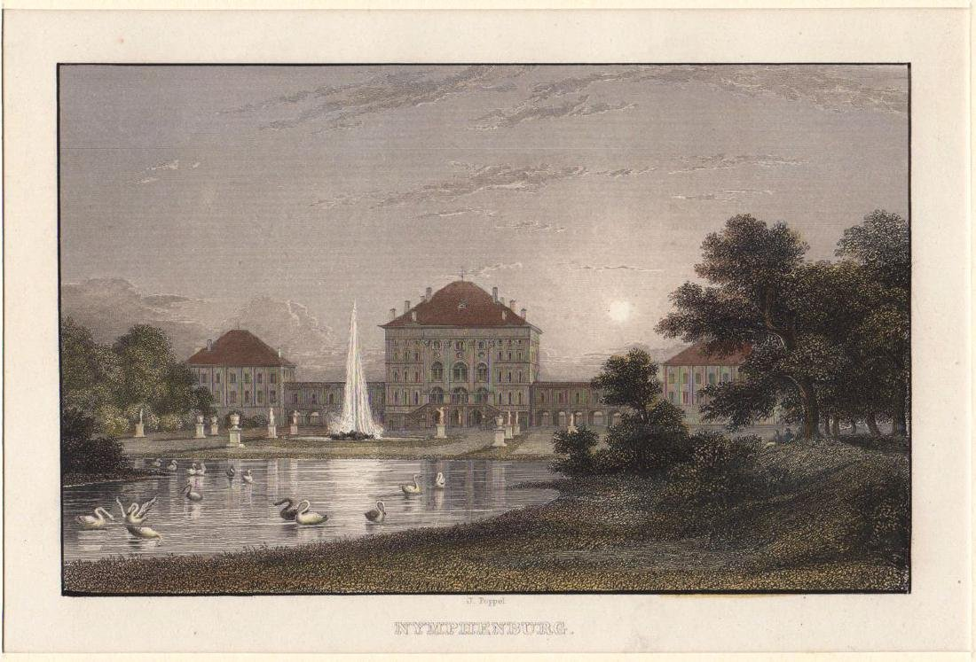 Poppel: View of Nymphenburg Palace, Munich, 1850