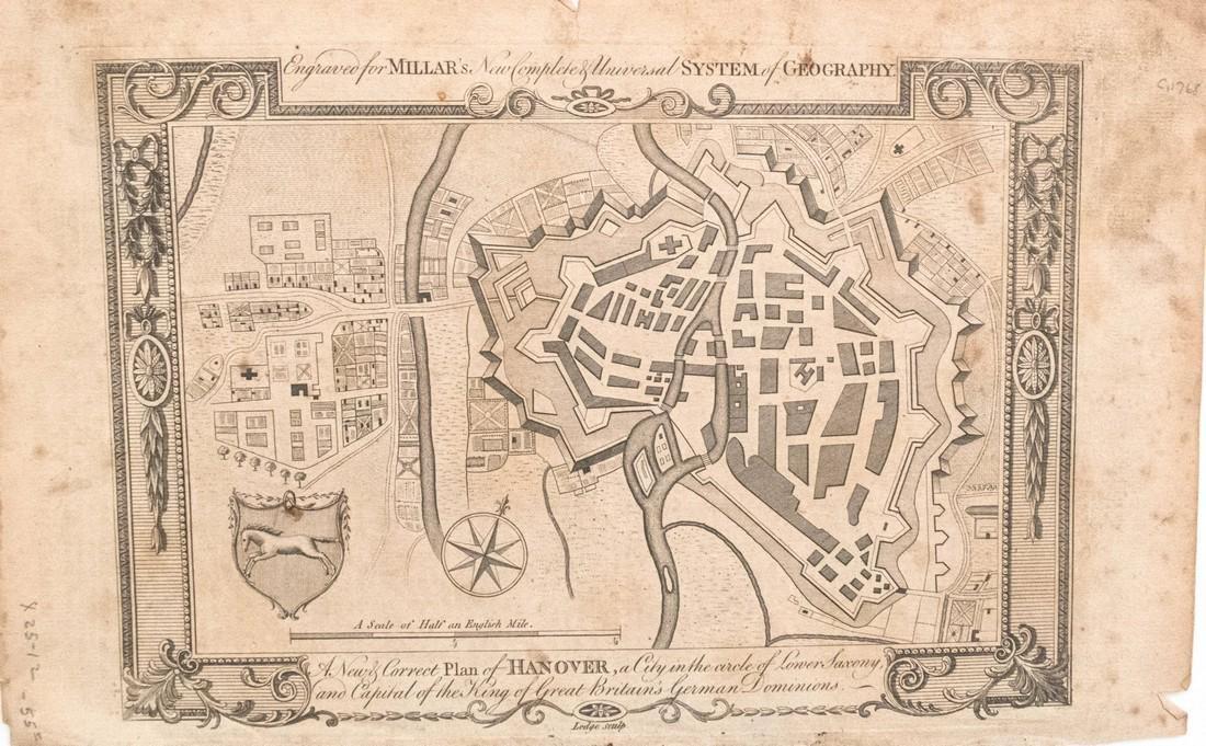 Millar: Antique Map of Hanover, 1768