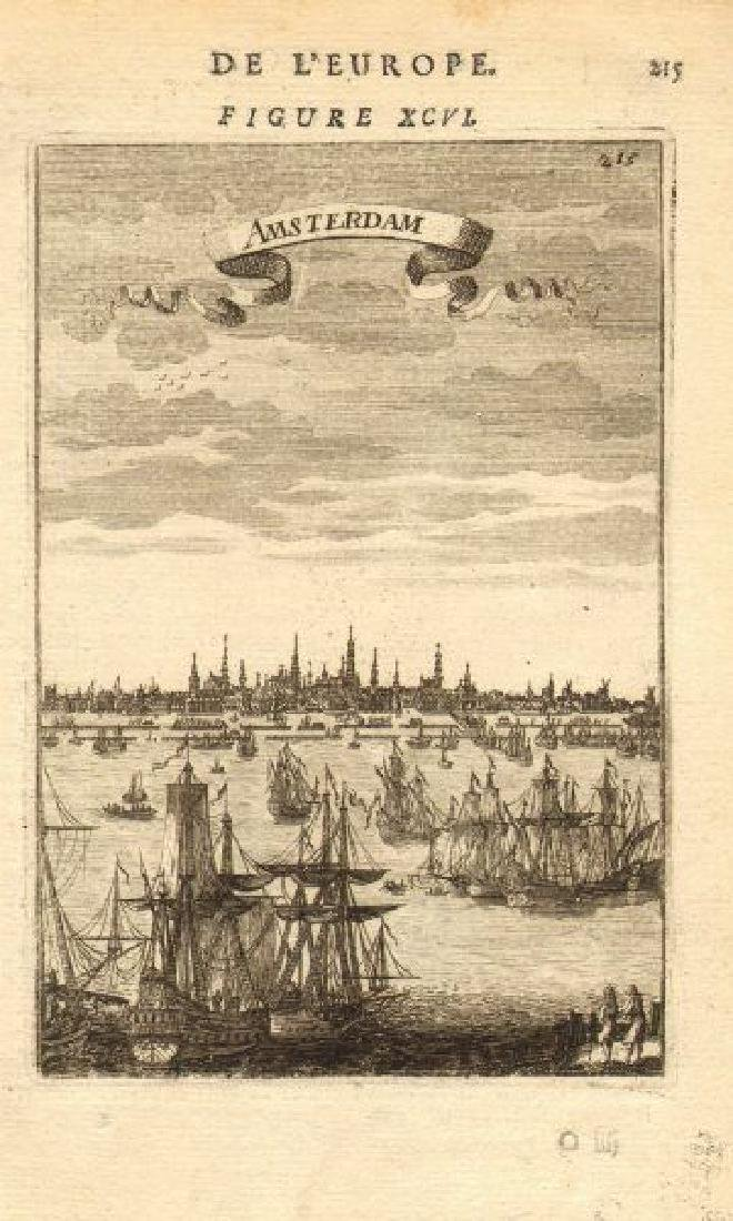 Mallet: Antique View of Amsterdam, 1683