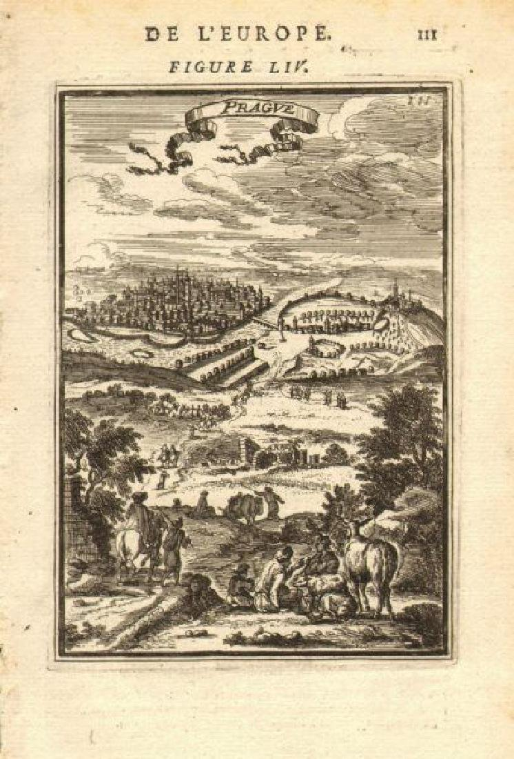 Mallet: Antique View of Prague, 1683