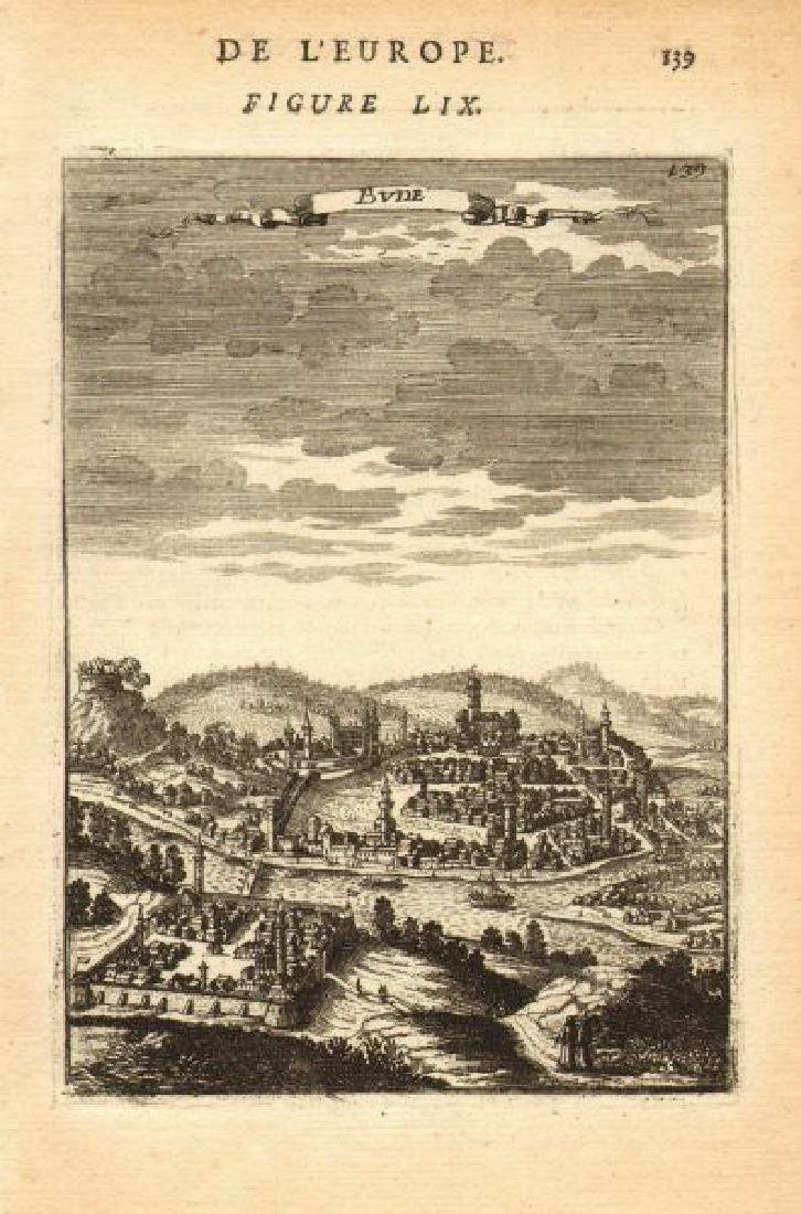 Mallet: Antique View of Budapest, 1683